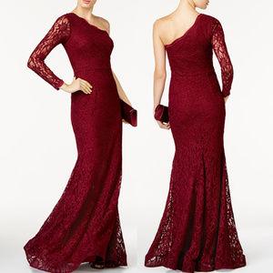 XSCAPE Lace Sparkle Mermaid Formal Evening Gown